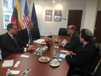 WJRO meeting with Lithuanian Vice Foreign Minister Mantvydas Bekešius in New York, February 25, 2016